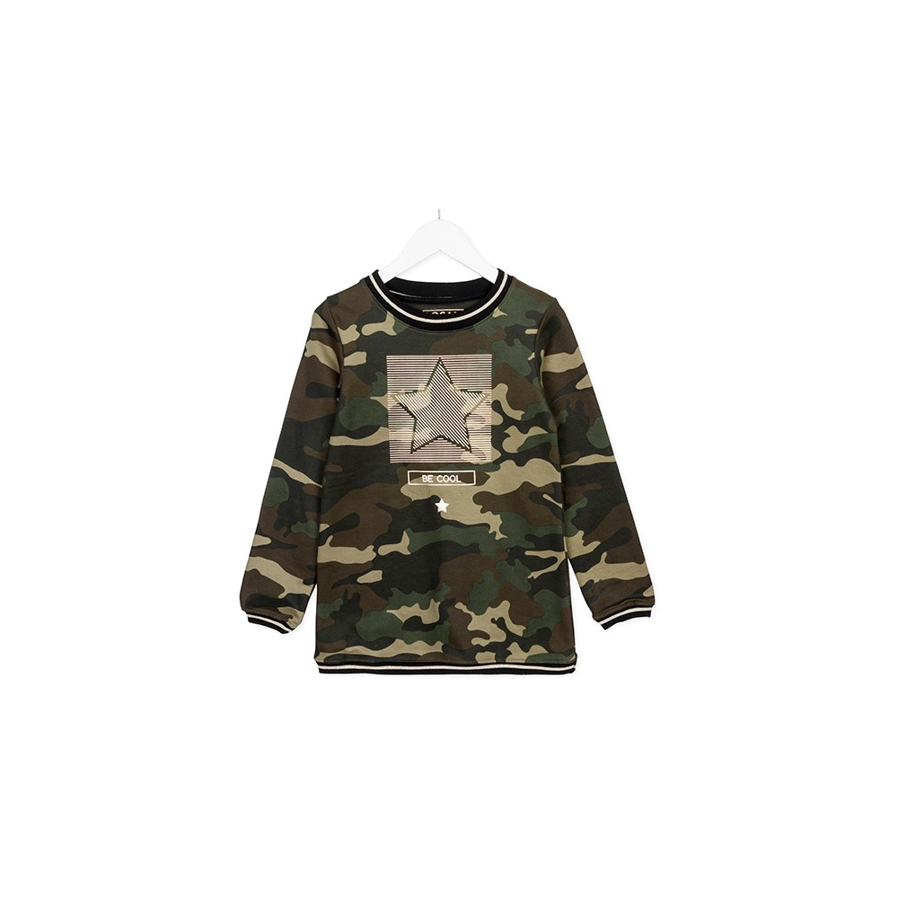 Vestido Losan niña junior Camouflage manga larga