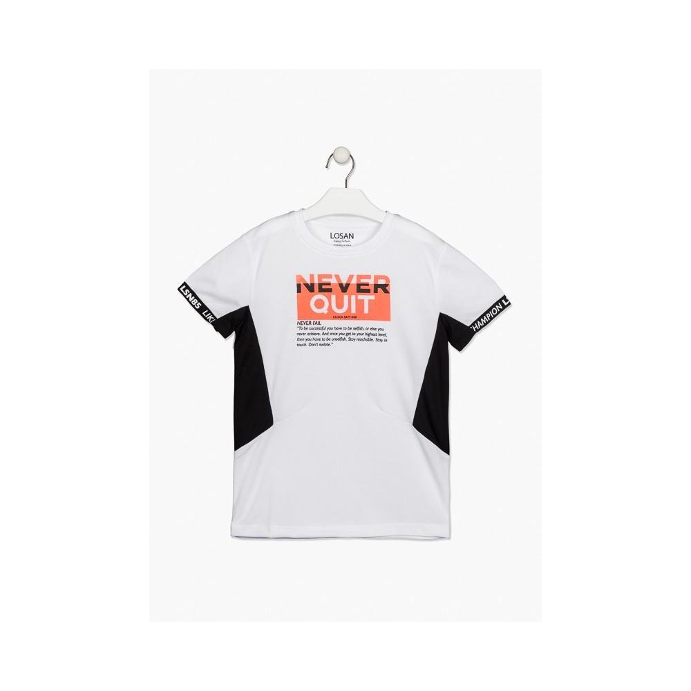 Camiseta Losan niño junior Never Quit manga corta