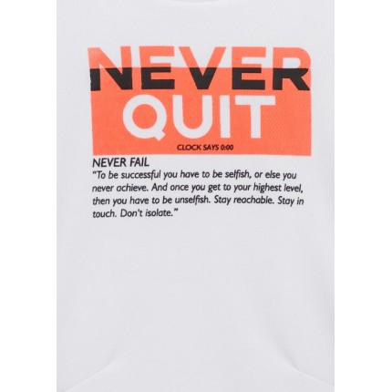 Detalle estampado de Camiseta Losan niño junior Never Quit manga corta
