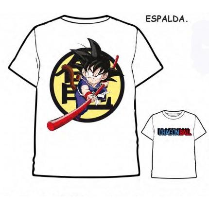 Camiseta Dragon Ball Son Goku Kanji Kame adulto manga corta