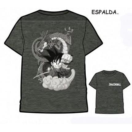 Camiseta Dragon Ball Son Goku con Dragon Shenron adulto manga corta