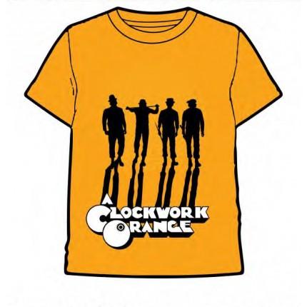 Camiseta Naranja Mecánica adulto manga corta en Naranja