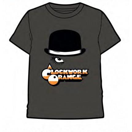 Camiseta Naranja Mecánica de Stanley Kubrick adulto manga corta