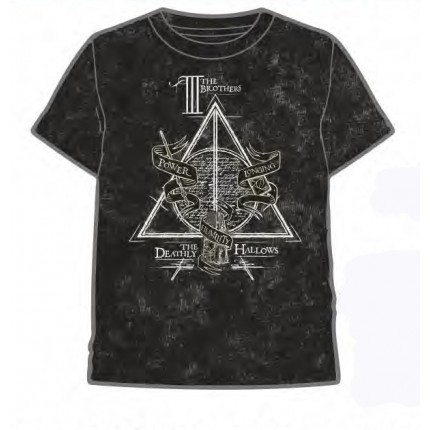 Camiseta Harry Potter adulto The III Brothers manga corta