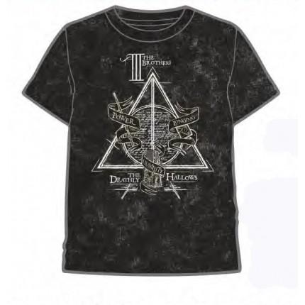 Camiseta Harry Potter niño The III Brothers manga corta