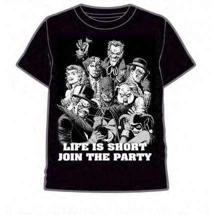 Camiseta Batman y Villanos de Gotham adulto manga corta