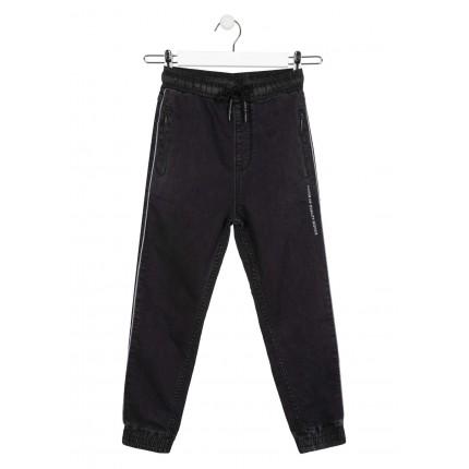 Pantalón Denim Losan niño junior con bolsillos con cremalleras