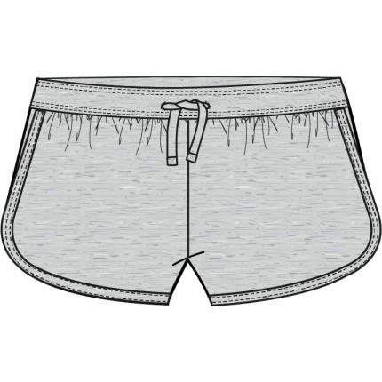 Pantalón Losan corto niña junior en punto liso gris claro vigore