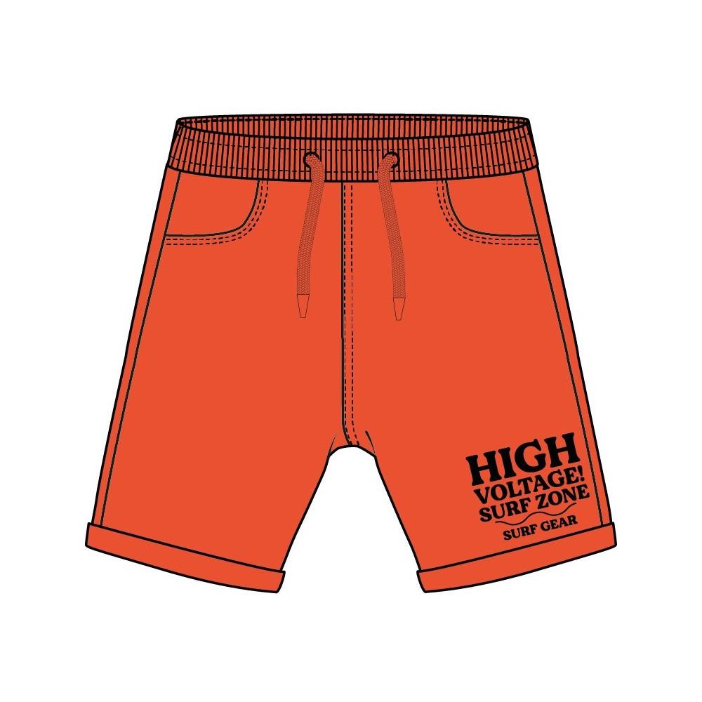 Bermuda Jogging Losan niño junior punto liso con print delantero en naranja