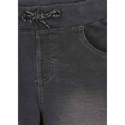 Detalle bolsillo de Bermuda Denim Losan niño junior con cordón de felpa
