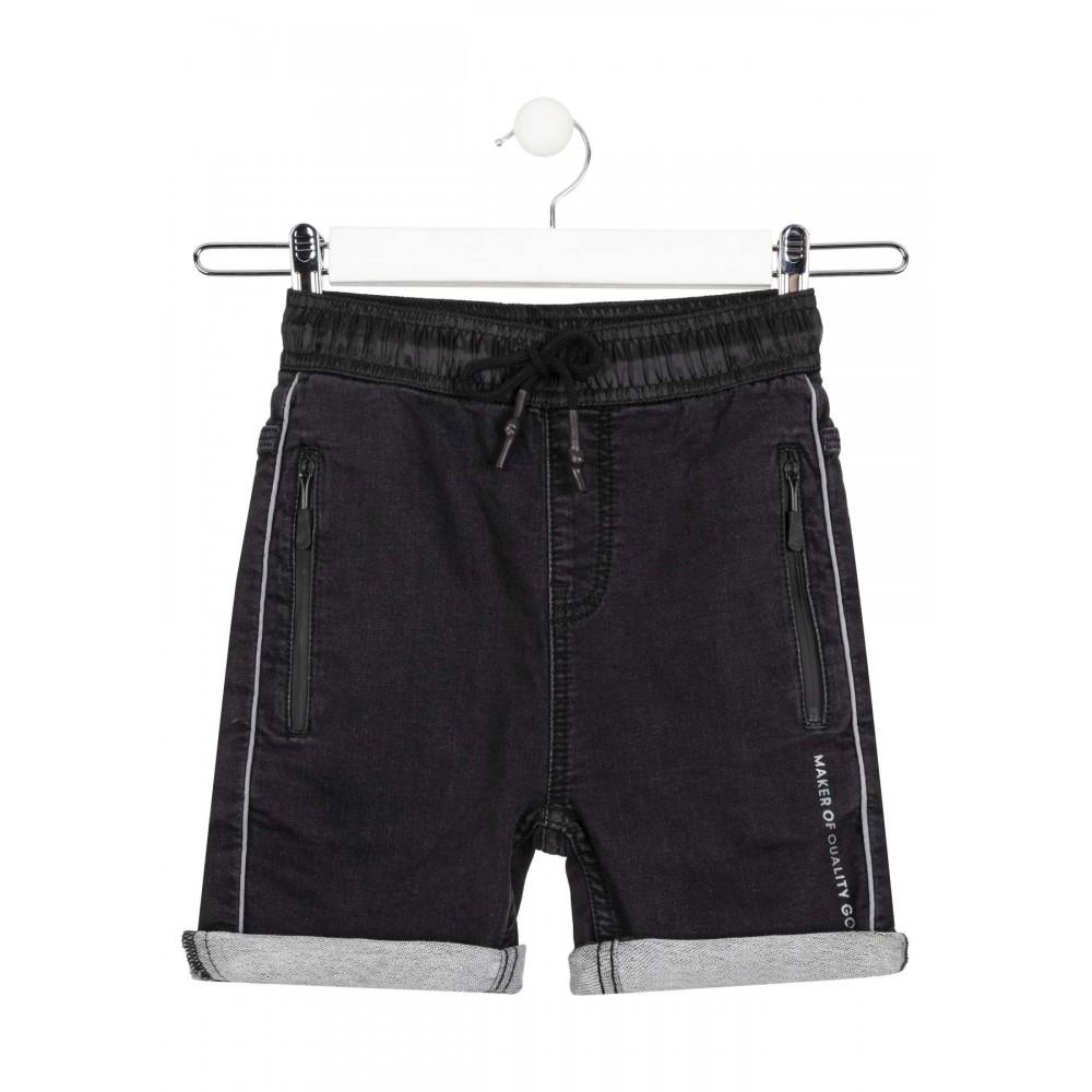Bermuda Denim Losan niño junior con bolsillos con cremalleras