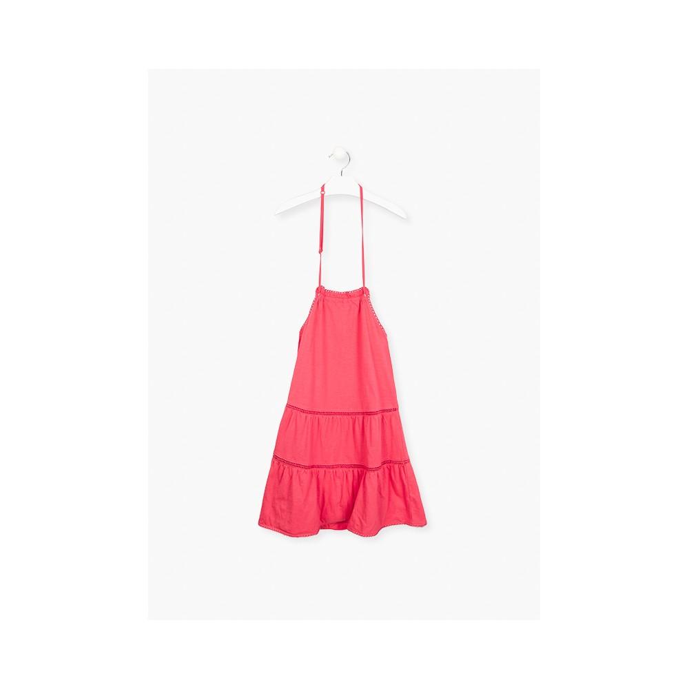 Vestido Losan niña junior espalda al aire
