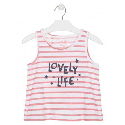 Camiseta Losan niña junior Lovely Life sin mangas