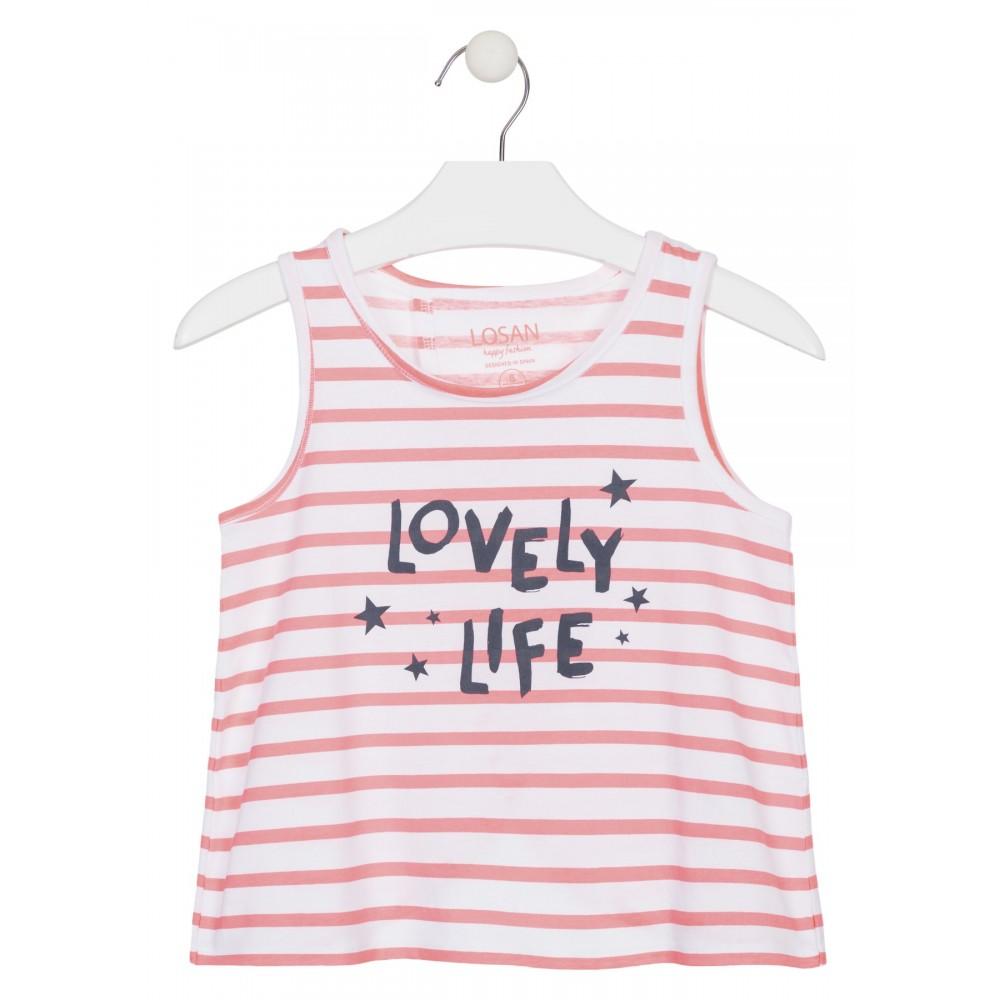 Camiseta Losan niña junior Lovely Life sin mangas