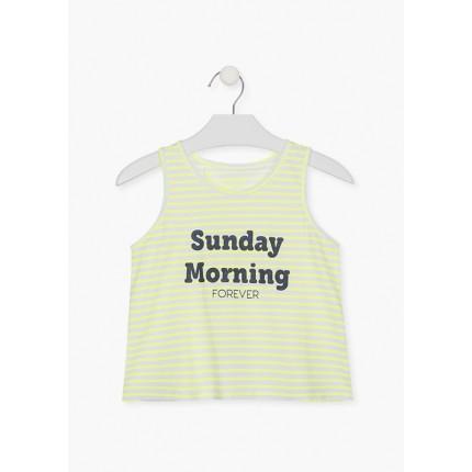 Camiseta Losan niña junior Sunday Morning Forever sin mangas