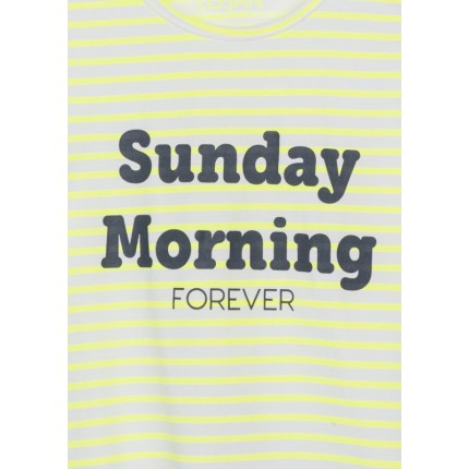Detalle estampado de Camiseta Losan niña junior Sunday Morning Forever sin mangas