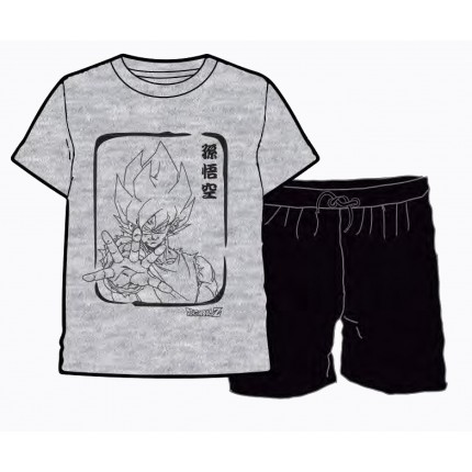 Pijama Dragon Ball Goku adulto manga corta con print