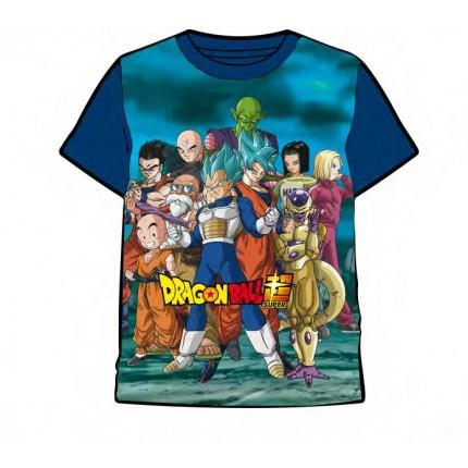 Camiseta Dragon Ball Super Saiyan Blue Full Power manga corta