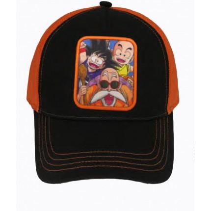 Gorra Trucker Dragon Ball Roshi Goku Krilin cierre snapback