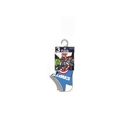 Detalle de Calcetines Vengadores tobilleros Marvel niño cortos surtido azul medio, blanco, azul medio