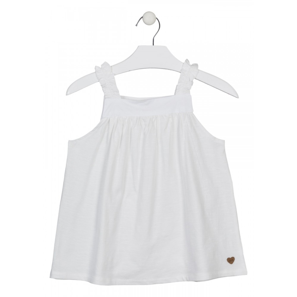 Camiseta Losan niña junior Natural World con volantes tirantes