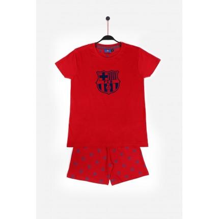 Pijama FC Barcelona niño Escudo manga corta