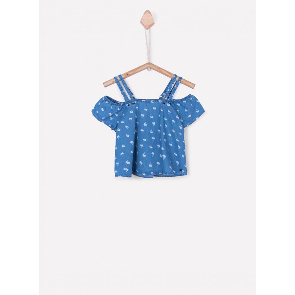 Camisa Tiffosi Chile niña junior tirantes