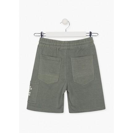 Parte trasera de Bermuda Jogging Losan niño junior Jungle con cordón