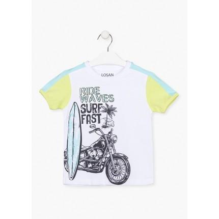 Camiseta Losan kids niño infantil Surf con print