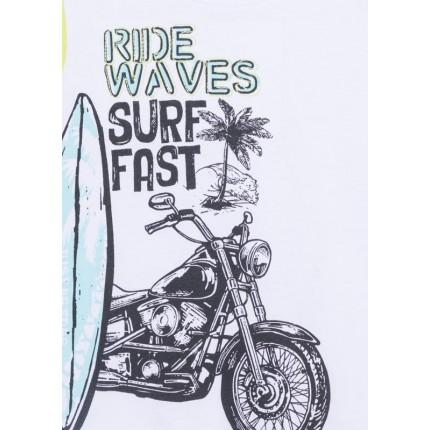 Detalle estampado de Camiseta Losan kids niño infantil Surf con print