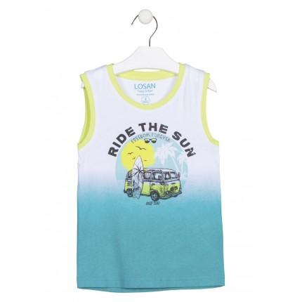 Camiseta sin mangas Losan kids niño infantil con print en degrade