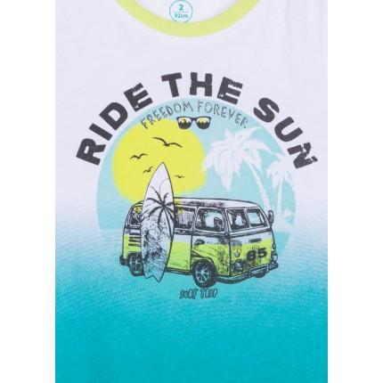Detalle dibujo de Camiseta sin mangas Losan kids niño infantil con print en degrade