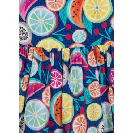 Detalle dibujo de Vestido Losan Kids niña infantil Fruits de Voile estampado