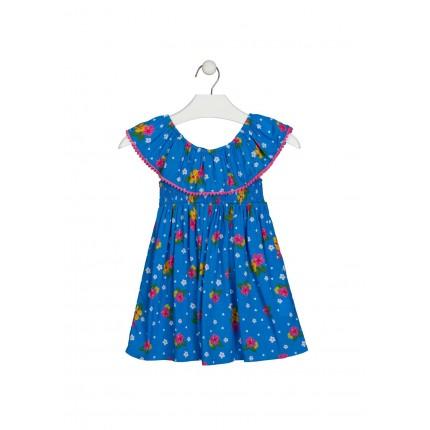 Vestido Losan Kids niña infantil Tropical Vibes de voile