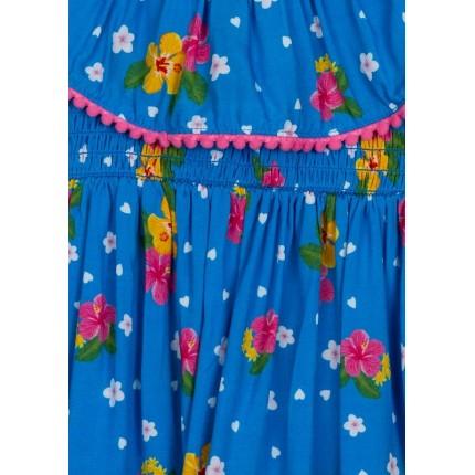 Detalle vivo de Vestido Losan Kids niña infantil Tropical Vibes de voile