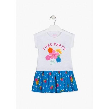 Vestido Losan Kids niña infantil Tropical Vibes con print