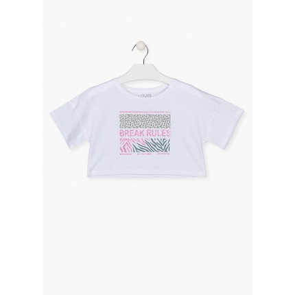Camiseta top Losan niña junior Jungle manga corta