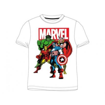 Camiseta Marvel Avengers niño manga corta, Vengadores, Hulk, Capitán América, Iron Man y Thor.