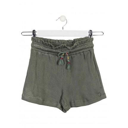 Short Losan niña junior Jungle con cordón en la cintura