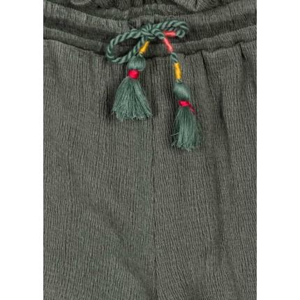 Detalle del cierre de Short Losan niña junior Jungle con cordón en la cintura