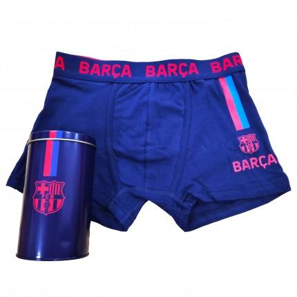 Boxer FCBarcelona niño con lata de regalo