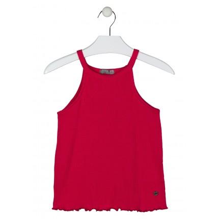 Camiseta Losan niña junior tirantes en canalé