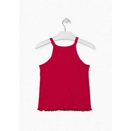 Espalda de Camiseta Losan niña junior tirantes en canalé