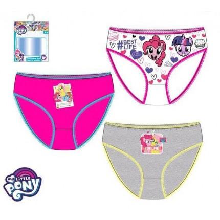 Braguitas My Little Ponny pack de 3 infantil