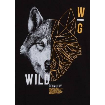 Detalle estampado de Camiseta Losan niño junior Wild manga larga