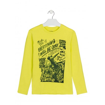 Camiseta LSN junior niño will be ok manga larga