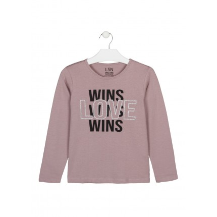 Camiseta LSN junior niña Wins Love manga larga