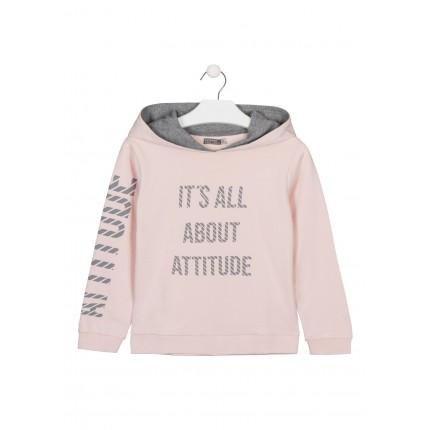 Sudadera LSN junior niña Attitude con capucha