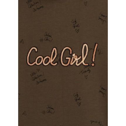 Detalle dibujo de Vestido LSN junior niña Cool Girl! con capucha