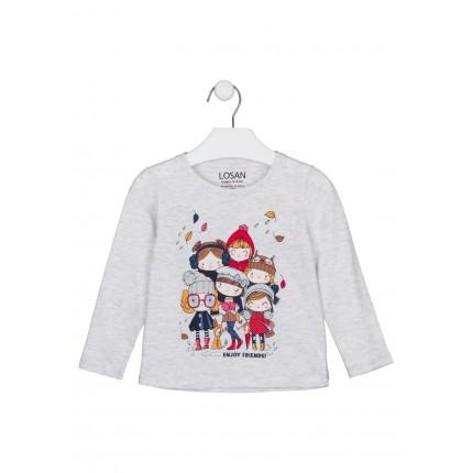 Camiseta Losan Kids niña infantil Enjoy Friends! manga larga